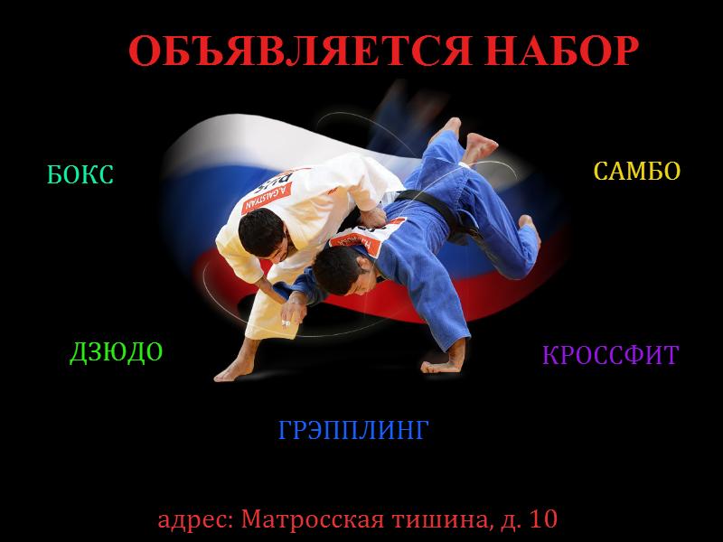 Самбо, дзюдо и гимнастика в Москве